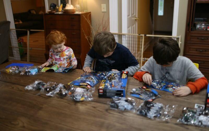 Lego Superhero Building as a Family