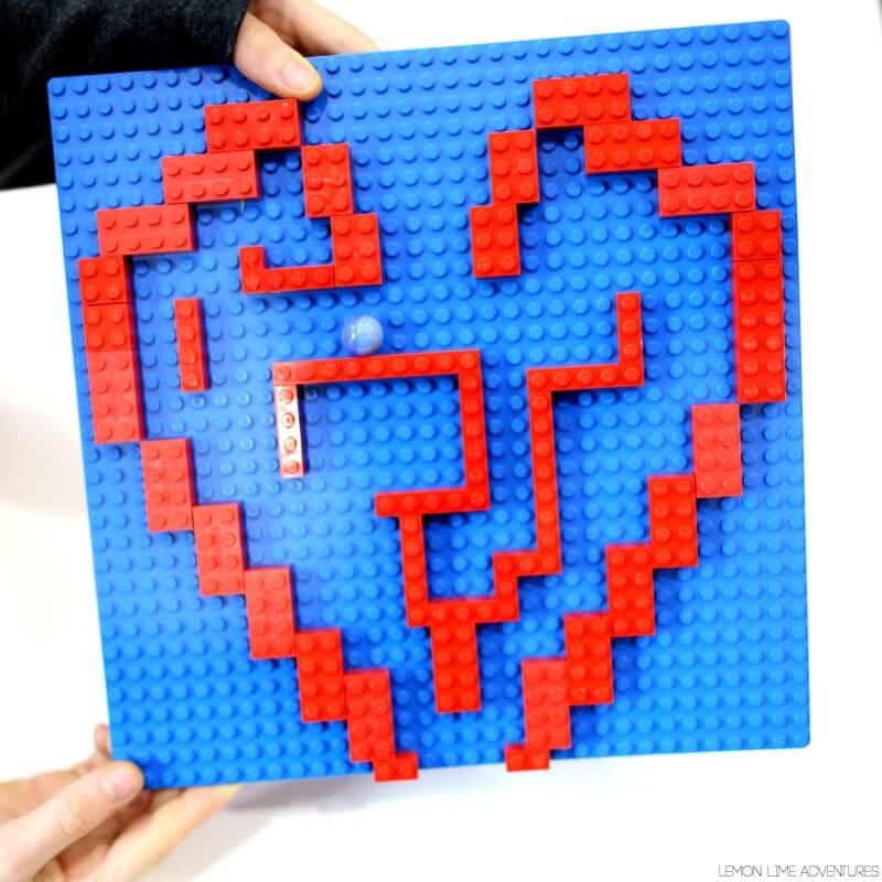 Valentines Day Lego Marble Mazes