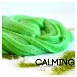 Calming-Slime-with-Glitter Essential OIls