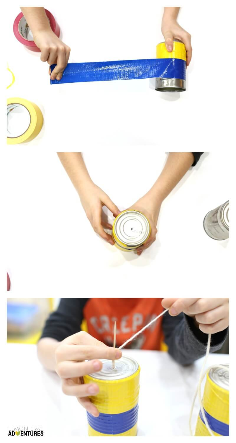 How to Make DIY Can Telephones