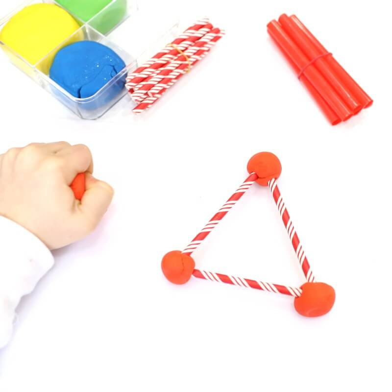 Making Polygons with Playdough and Straws