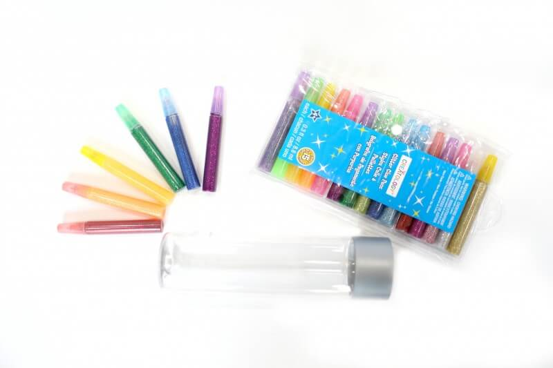 Materials for Rainbow Calm Down Jars