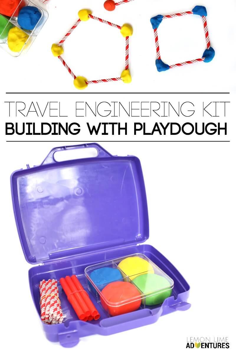 Travel Engineering Kit Building with Playdough Set