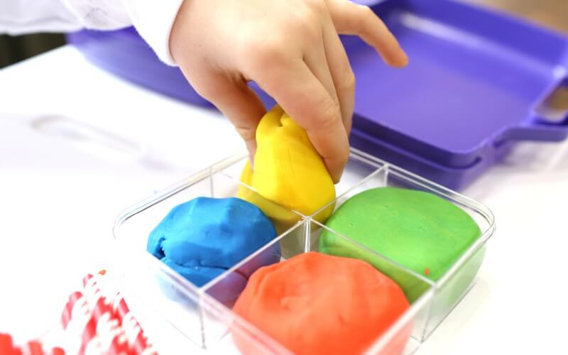 Using Playdough to build shapes and structures
