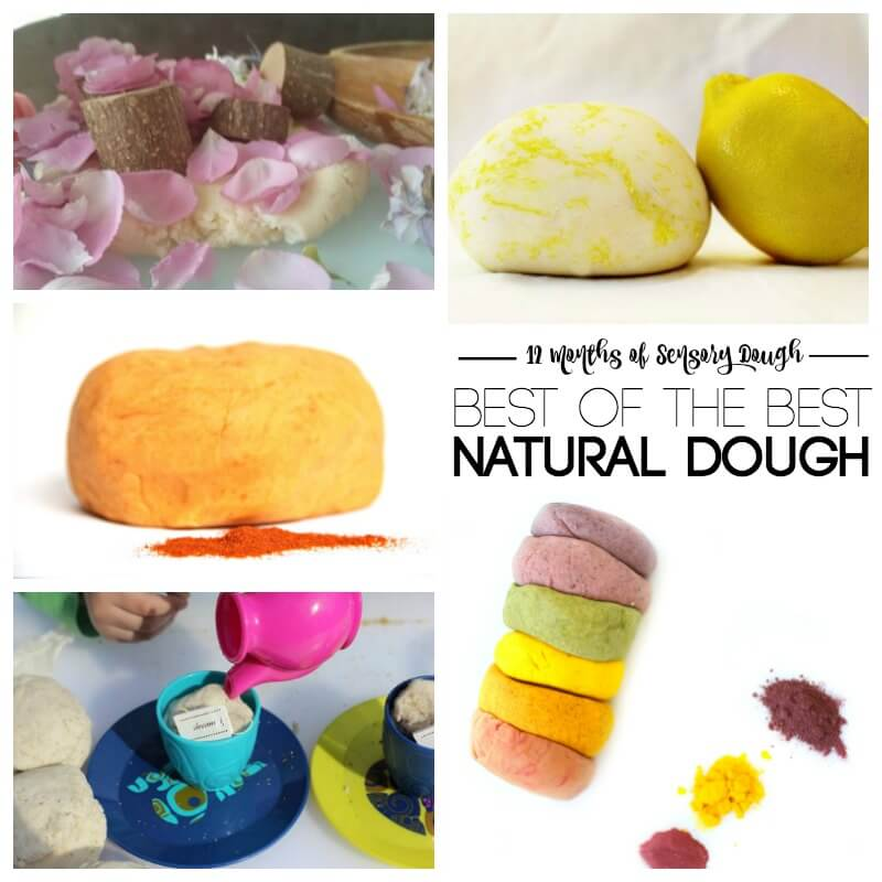 12 Months of Sensory Dough Natural Dough Recipes