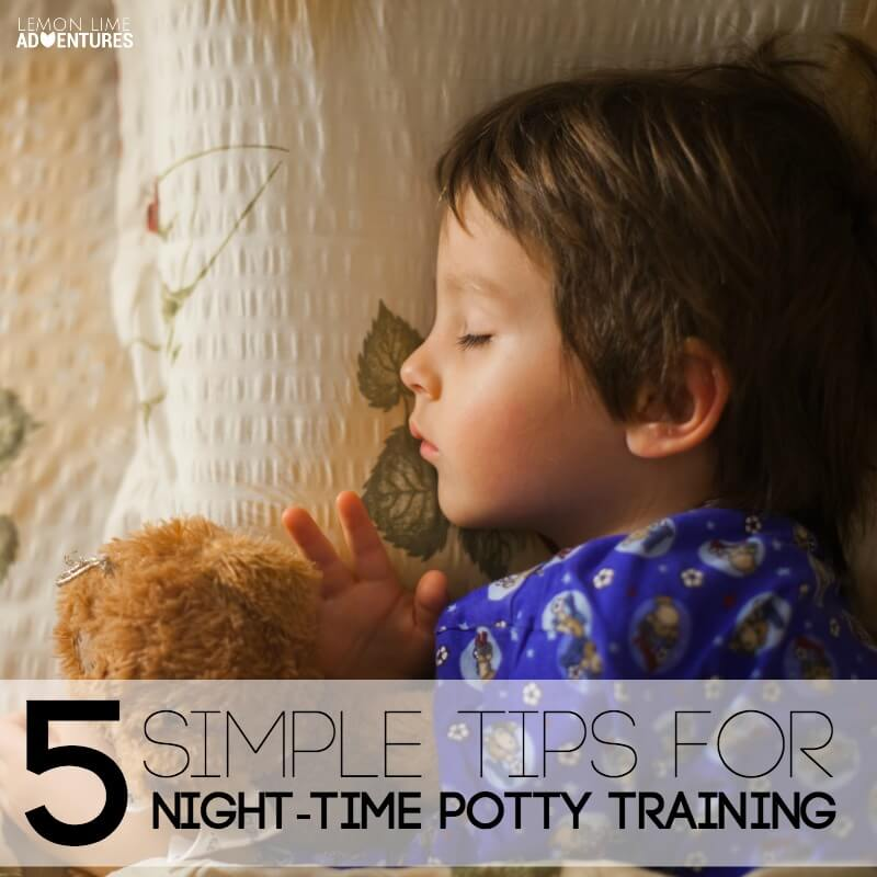 5 Simple Tips for Night Time Potty Training