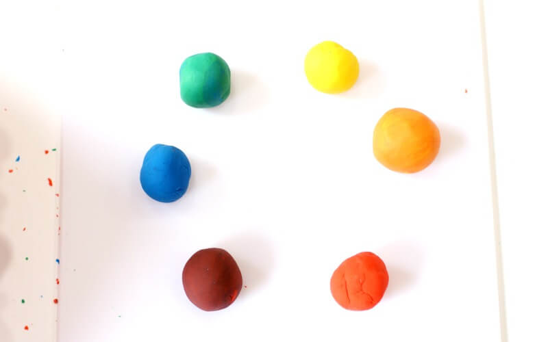 Color Mixing with Play Dough for Toddlers and Preschoolers
