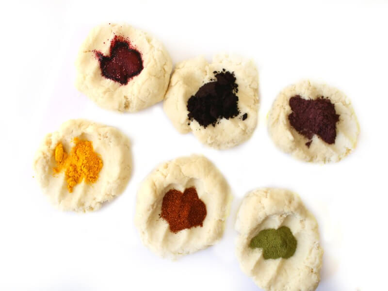 Natural Play Dough Recipe with Natural Dyes