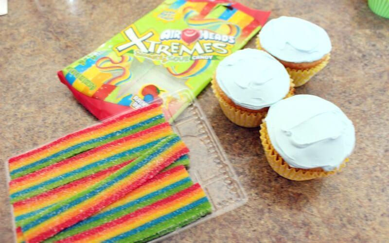 Rainbow Cupcakes Ingredients