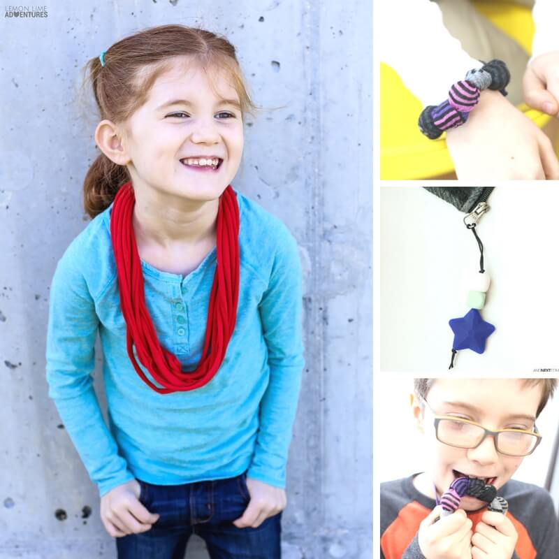Simple DIY Chewable Jewelry sensory hacks