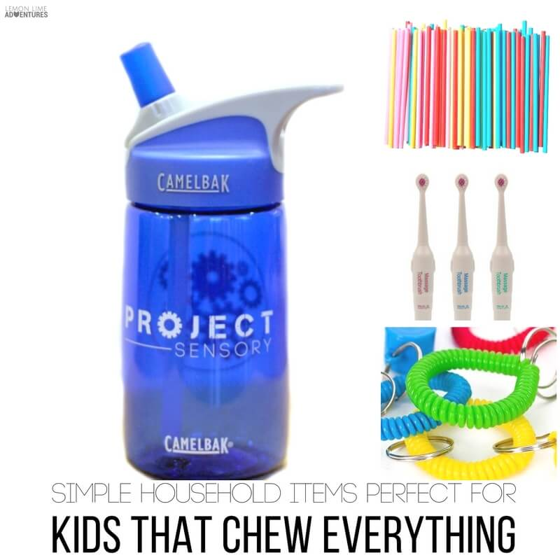 Simple Household Items for Kids that Chew Everything