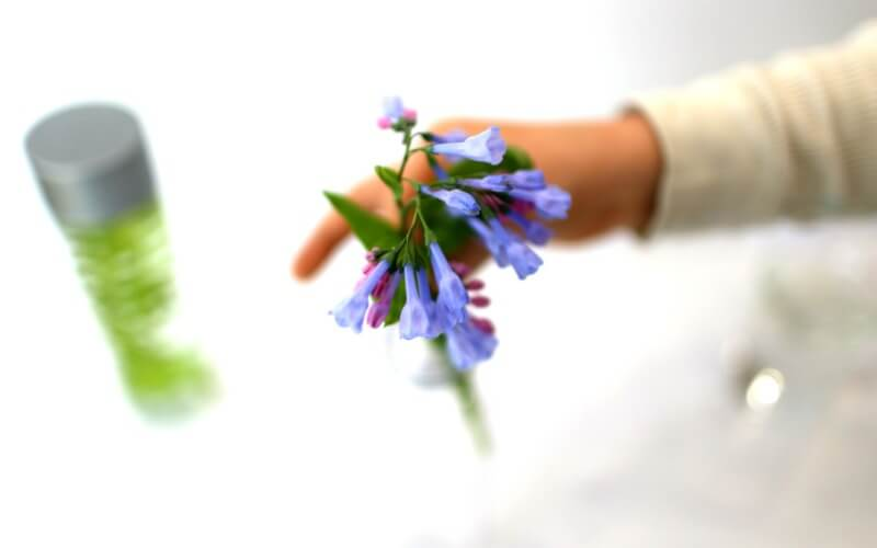 Creating a Sensory Bottle with Flowers