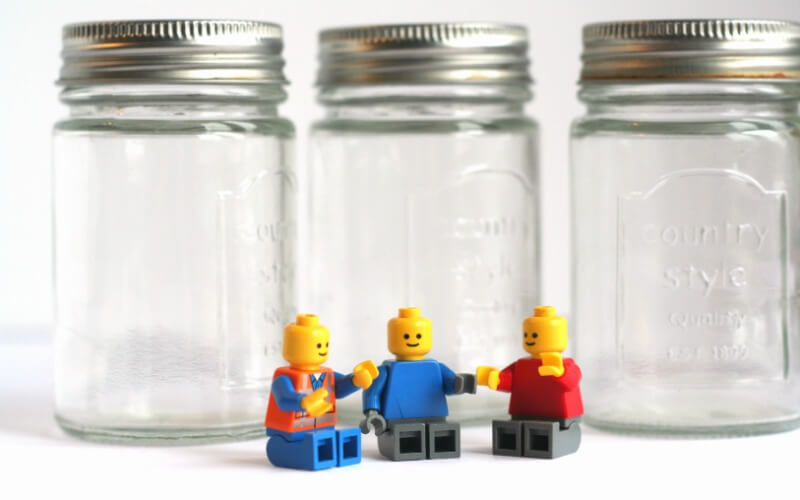 Materials for DIY Lego Jars