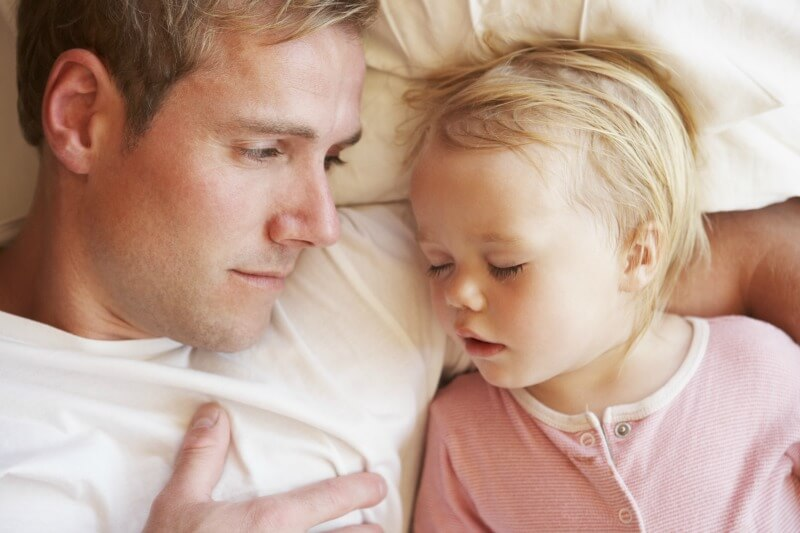 Sleeping in bed with your toddler