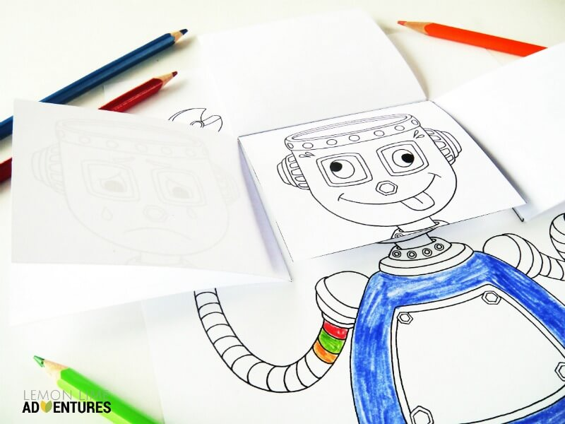 Emotional Robot Emotions Activity for Kids
