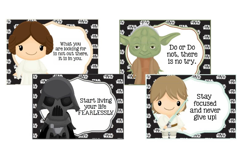 image about Printable Star Wars Images named Printable Star Wars Lunch Notes
