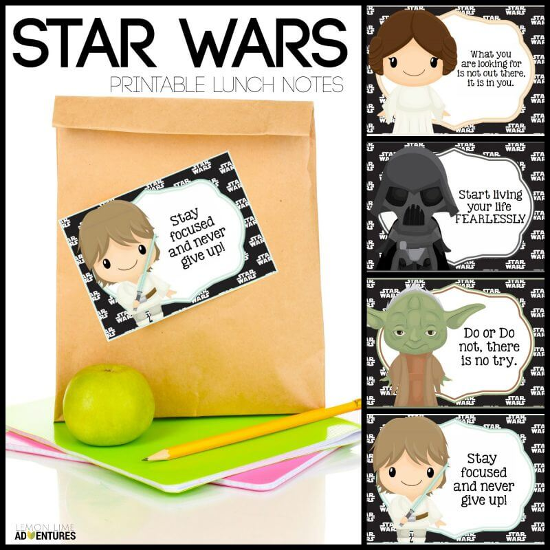 Star Wars Printable Lunch Notes