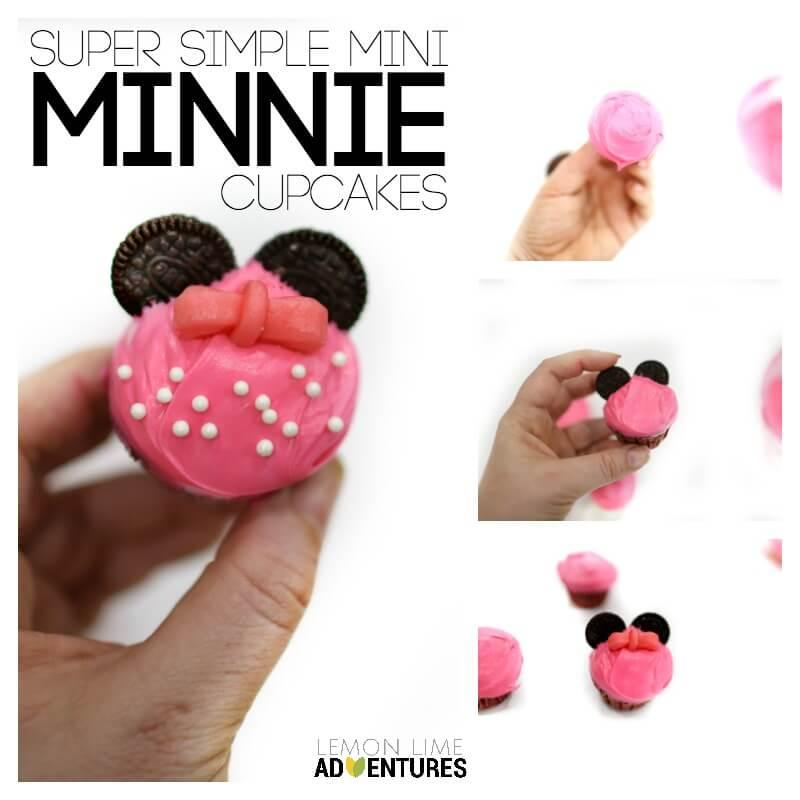 Super Simple Mini Minnie Cupcakes