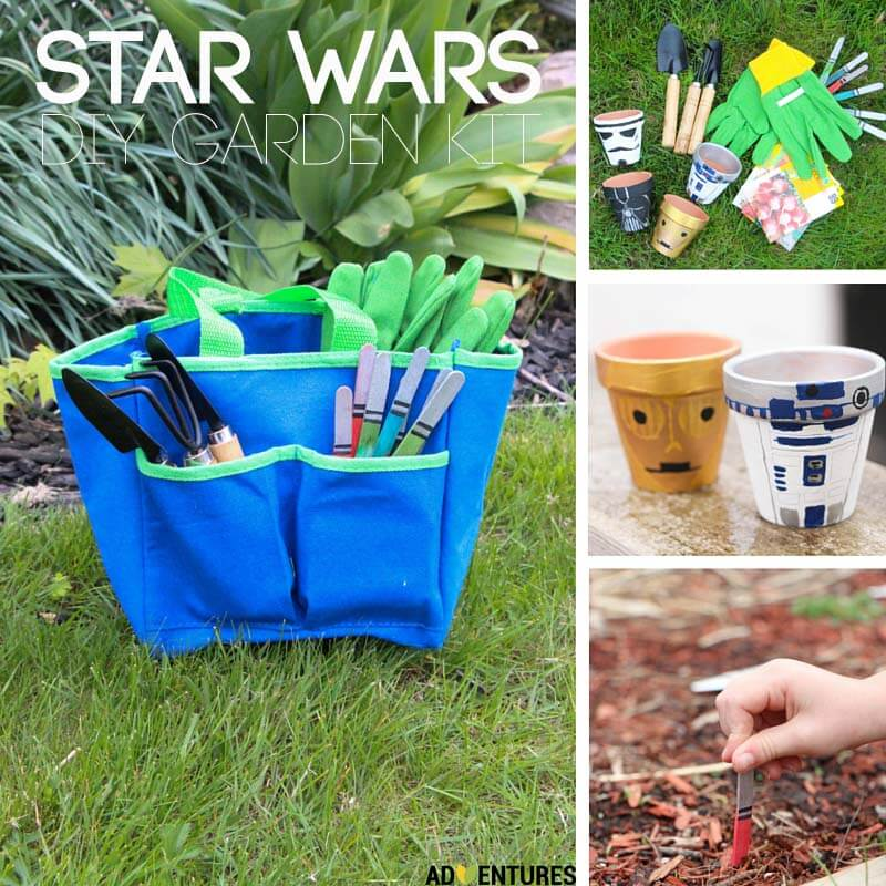 star wars garden kit collage