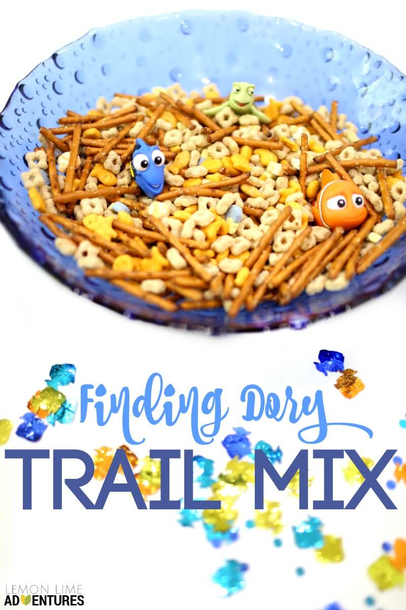 Finding Dory Trail Mix for Party Snacks