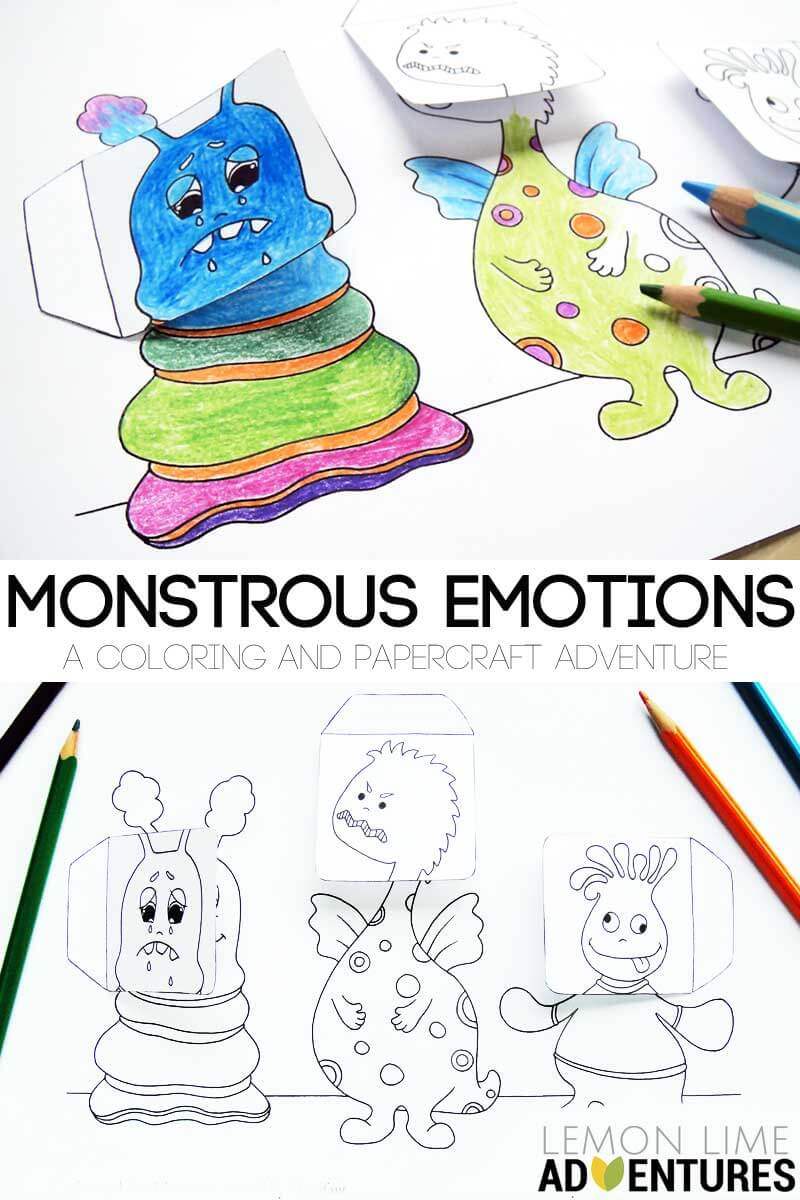 Monster Emotions Simple Activity