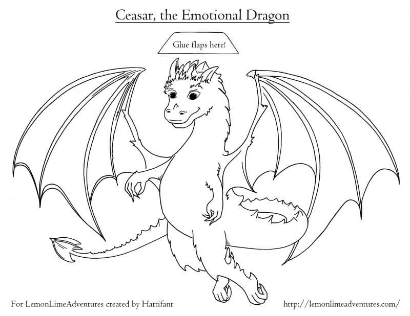 Dragon Coloring Page Emotions