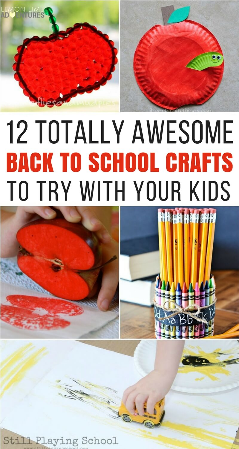 12 Totally Awesome Back to School Crafts to Try with Your Kids