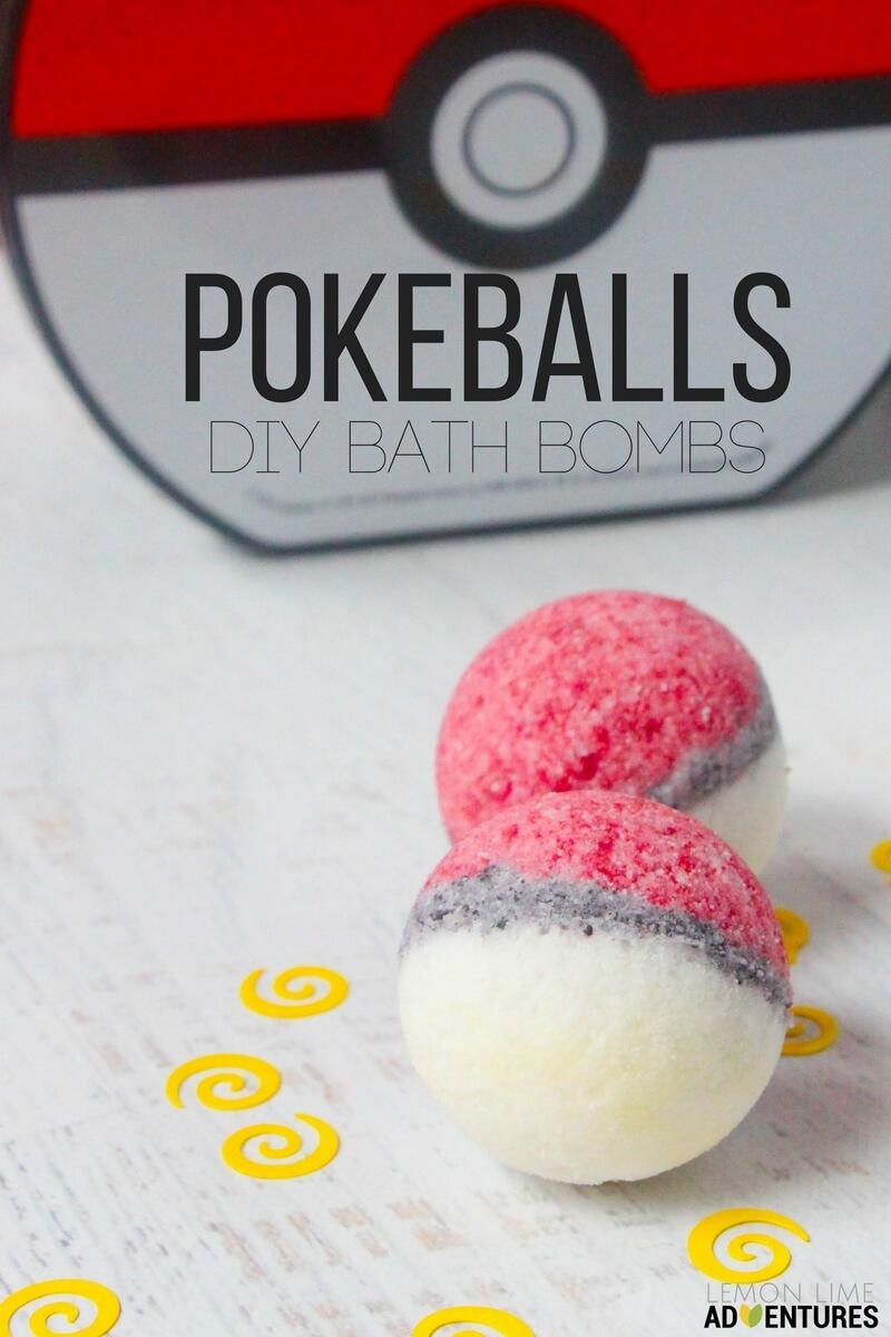 DIY Bath Bombs for Pokemon Go bath time