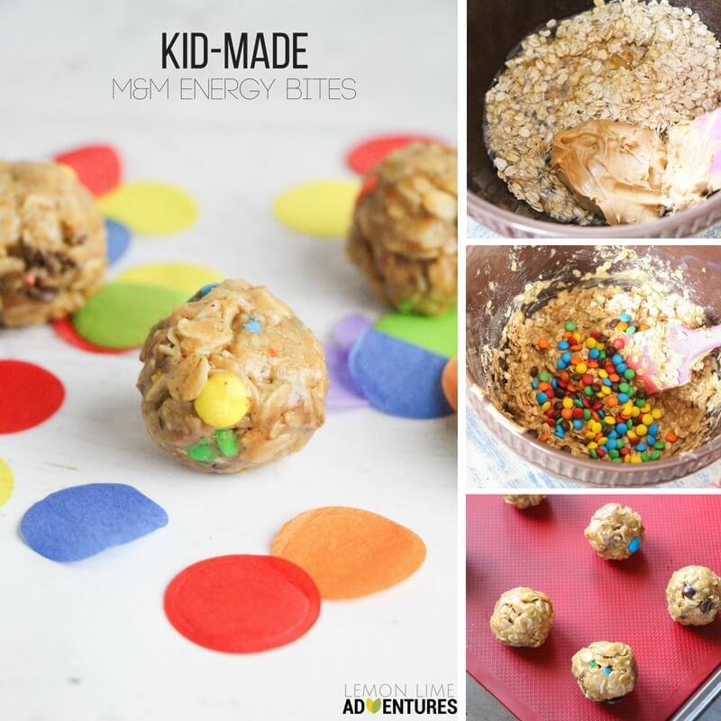 Totally Tasty Kid-Made M&M Energy Bites!