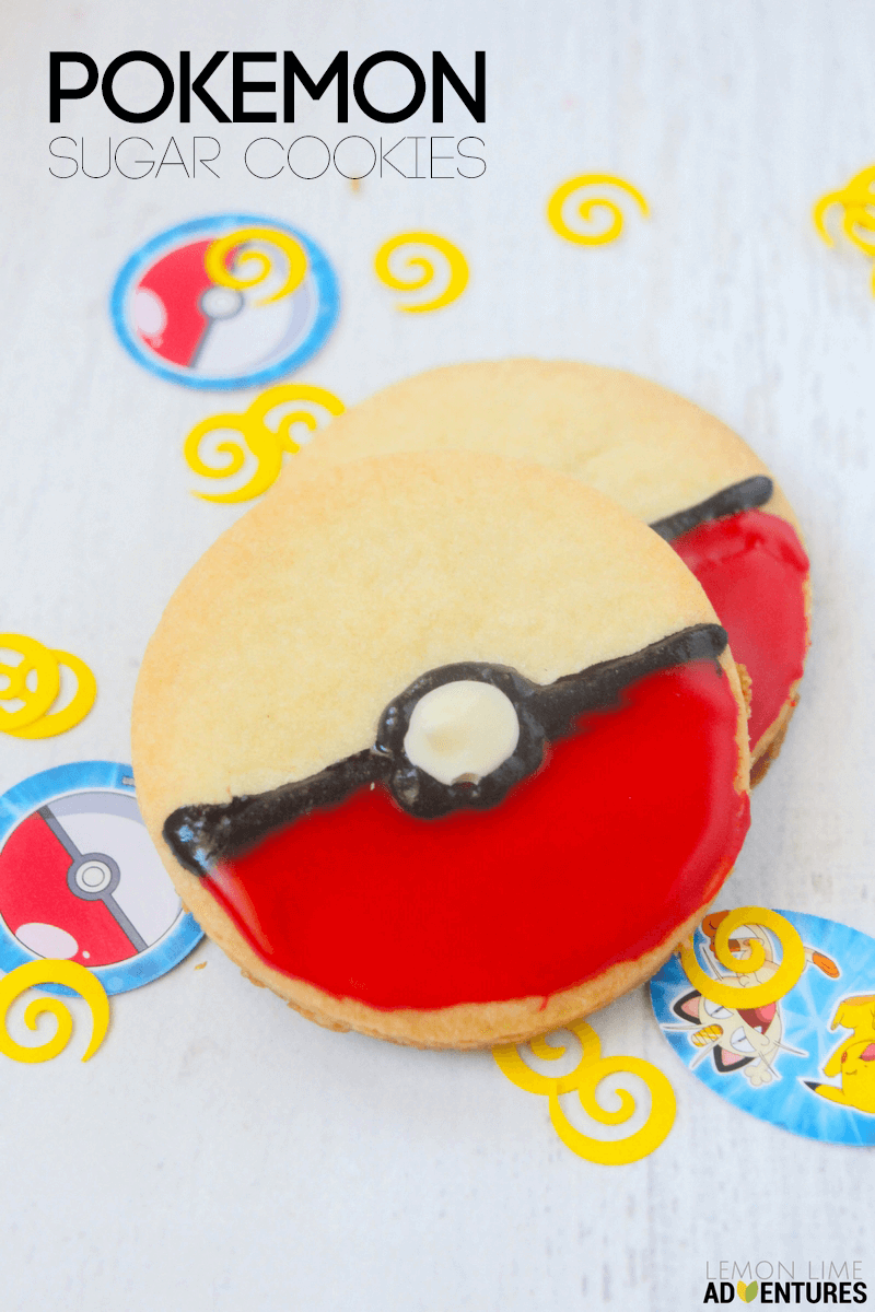 Super Simple Pokemon Sugar Cookies Perfect for Any Pokemon Birthday Party or Pokemon Fan