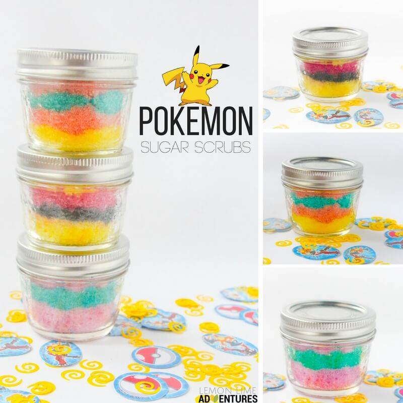 pokemon sugar scrub collection