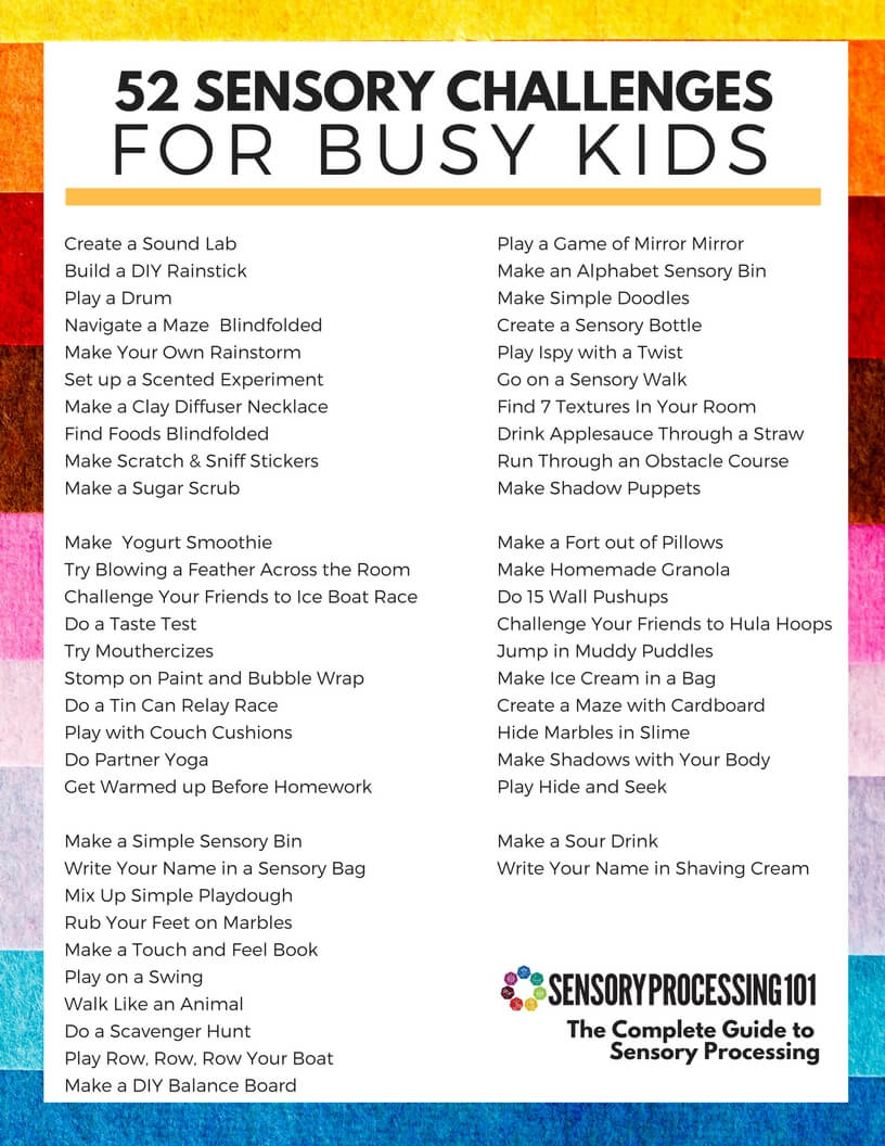 52 Sensory Challenges for Busy Kids