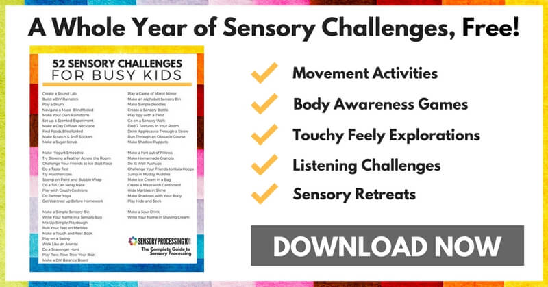 Free Sensory Challenges for Busy Kids