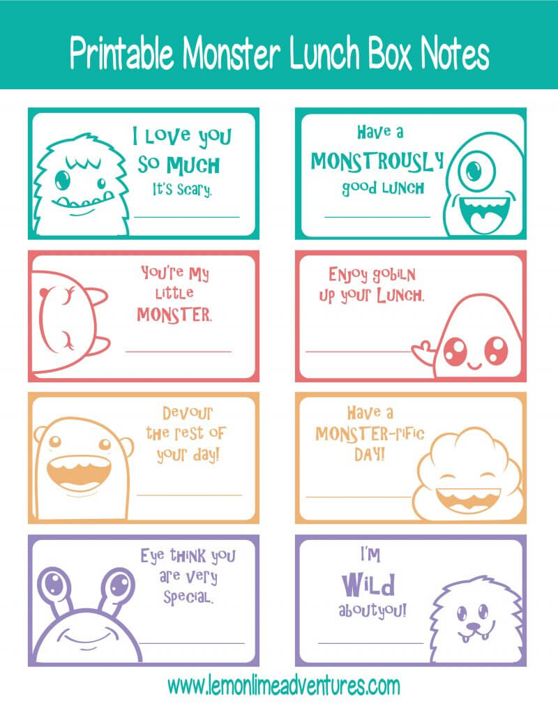 Monster Lunch Notes