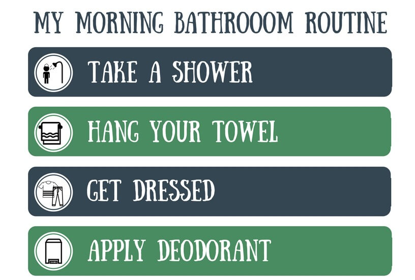 My Morning Routines Chart for Tweens