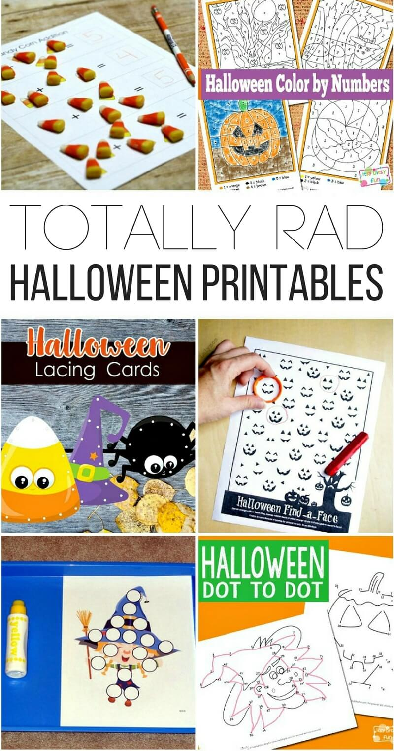 Totally Rad Halloween Printables!