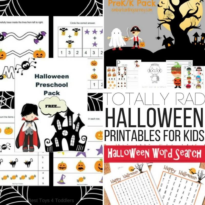 Totally Rad Halloween Printables for Kids