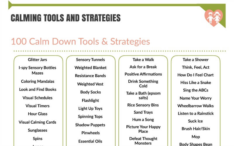 100 Calm Down Tools and Strategies You Can Use Today