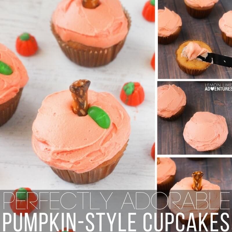 Perfectly Cute Pumpkin-Style Cupcakes!