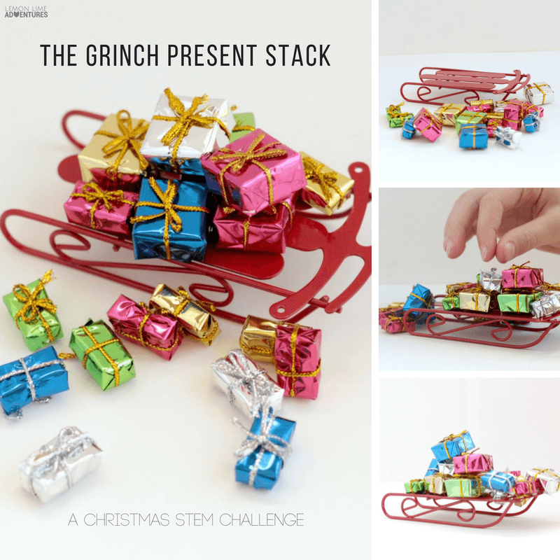 Christmas Present Stack Grinch STEM Challenge!