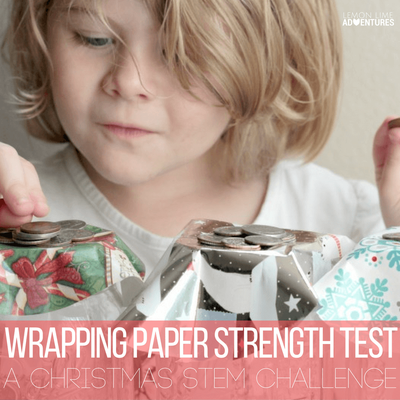 Christmas Wrapping Paper Strength Test STEM Activity: Fin for kids of all ages!