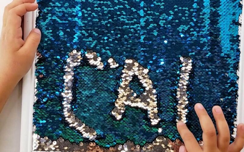 DIY Mermaid Sensory Writing Tray