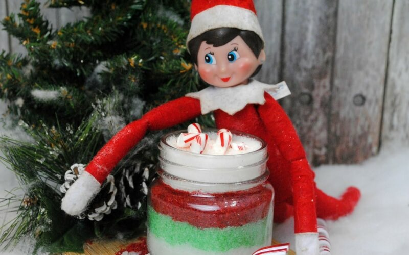Super Simple Elf on a Shelf Homemade Sugar Scrub