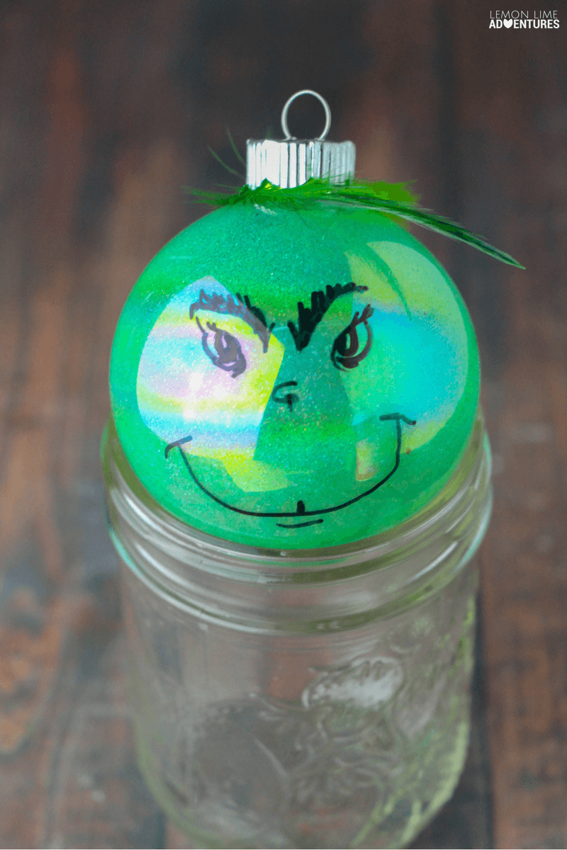 Super Easy Totally Rotten DIY Grinch Ornament!