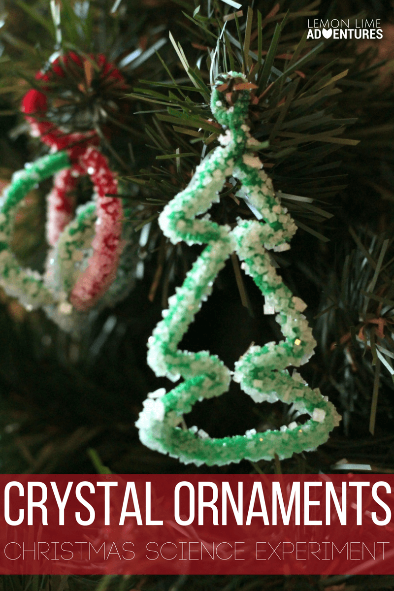 combine christmas with learning in this fun salt crystal ornaments science experiment that you can hang - Crystal Christmas Decorations