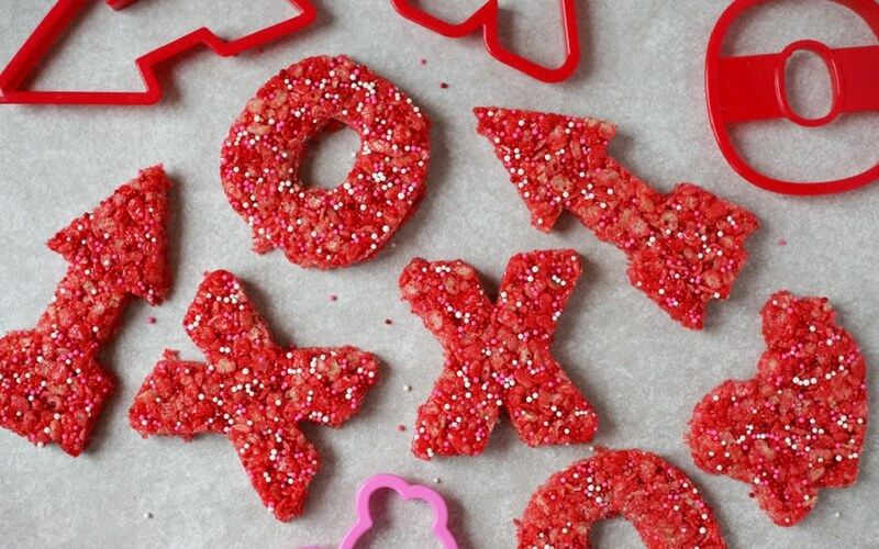 Totally Adorable Valentine's Theme Rice Krispie Treats