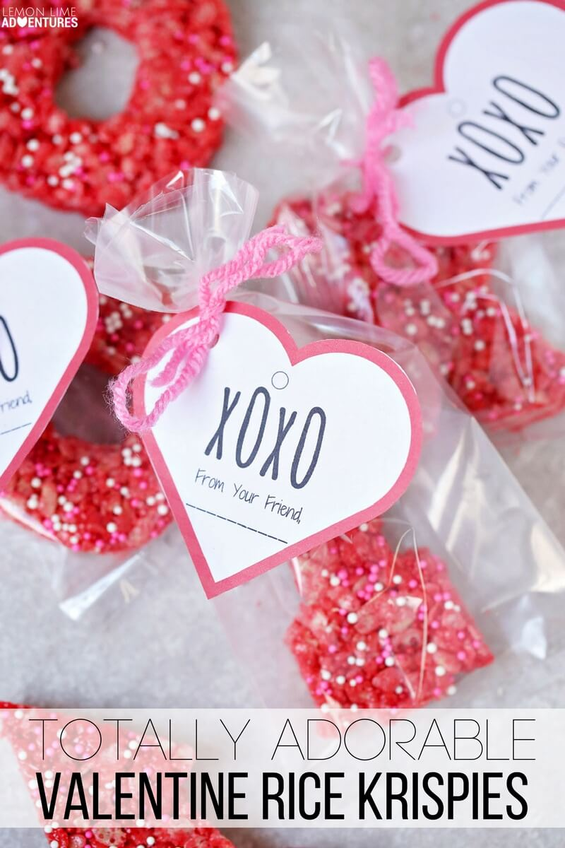 Totally Adorable Valentine\'s Theme Rice Krispie Treats