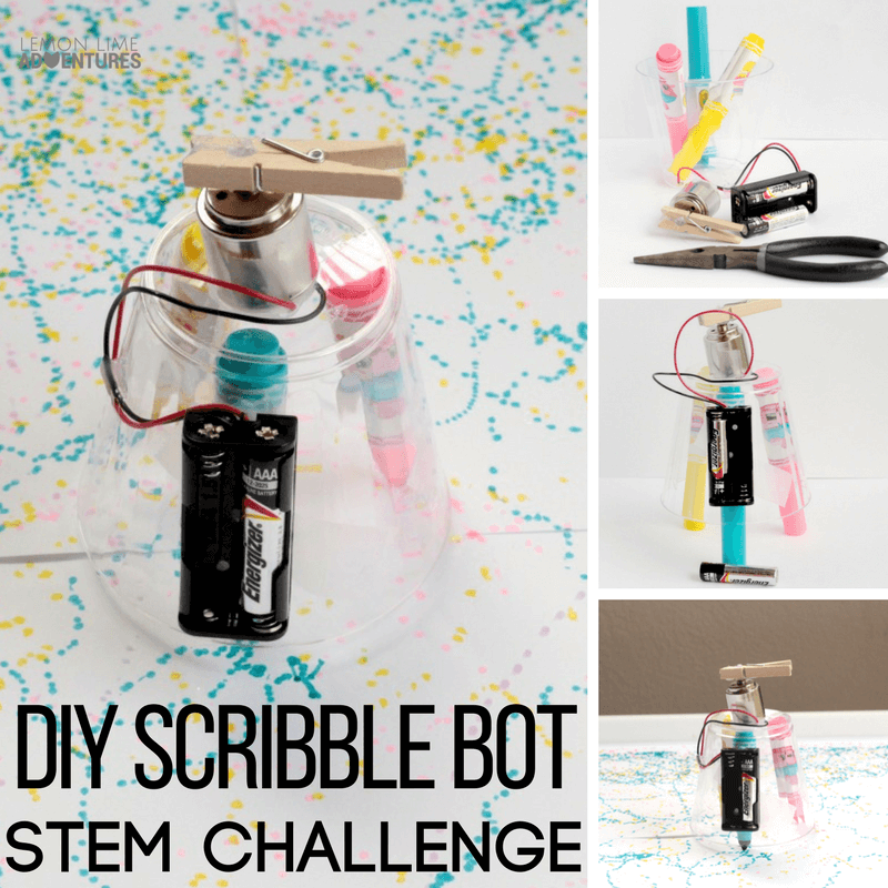 Kids will love making their own DIY scribble bot robot that draws on its own! STEM and electrical engineering has never been so fun!