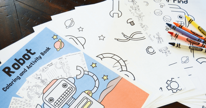 Super Awesome Calming Robot Activity Kit For Busy Kids That Cant Sit Still
