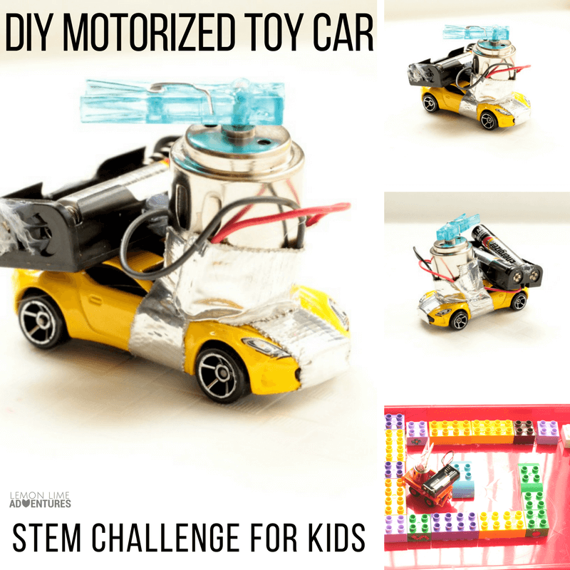 Diy Motorized Toy Car Stem Challenge For Kids